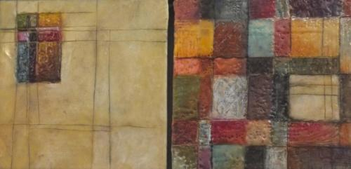 'Land of spices' Encaustic on cradled board 2015