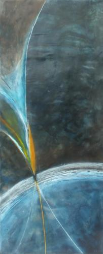 The Bird of paradise' Encaustic on cradled board 2015