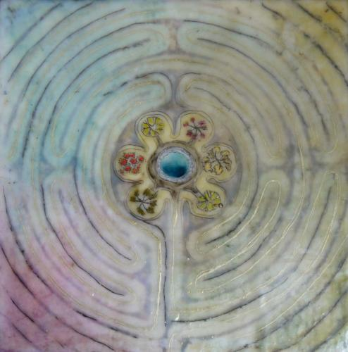 'Softness and peace and joy and love and bliss'Encaustic on cradled board 2015