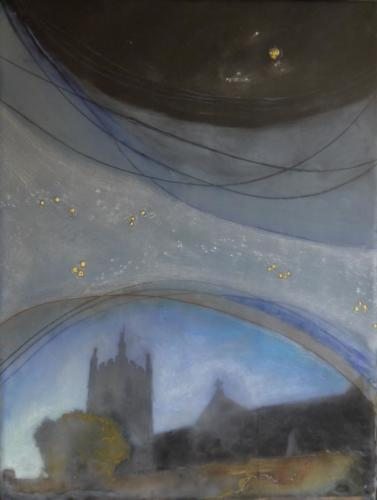 'Church bells beyond the stars heard' Encaustic on board 2015