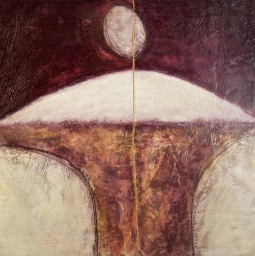 'The soul's blood' Encaustic on cradled board 2015